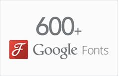 600+ Google Fonts