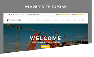 Header With Topbar